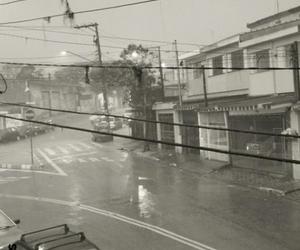 car, rain, and raining image