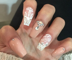 girl, nails, and stickers image