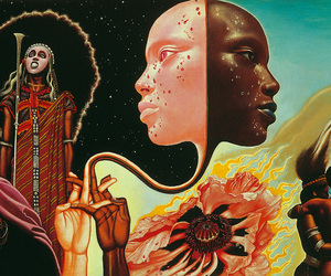 art, mati klarwein, and miles davis image