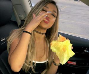 girl, food, and makeup image