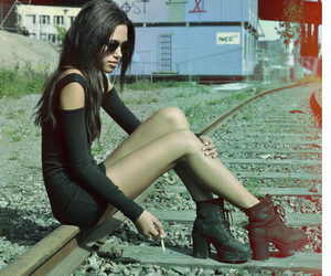 girl, shoes, and black image
