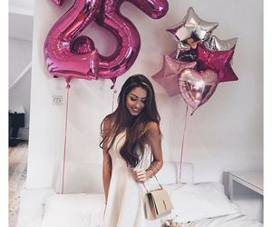 birthday, 25, and balloons image