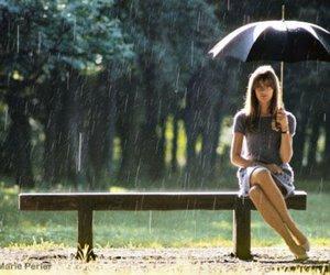 rain, umbrella, and francoise hardy image