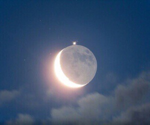 blue, moon, and love image