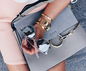 bag, gold, and luxury image