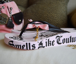 juicy couture, pink, and flip flops image