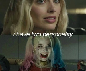 blue, harley quinn, and margot robbie image