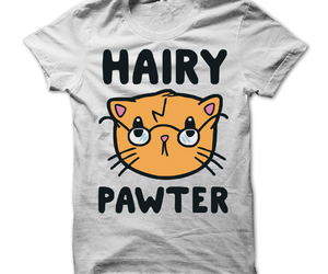 cat, hairy, and harry potter image
