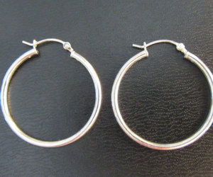 etsy, silver earrings, and silver hoops image