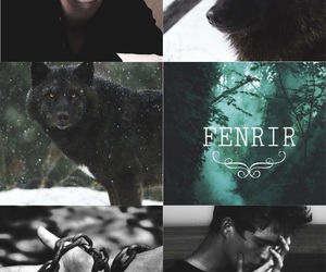 mythology, my collage, and fenrir image