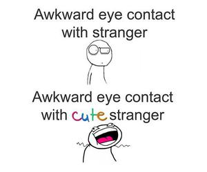 funny, strangers, and awkward image