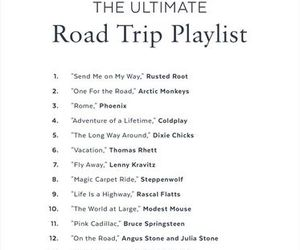 music, playlist, and Road Trip image