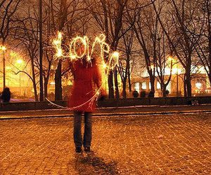 love, light, and fireworks image