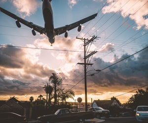 sky, travel, and fly image