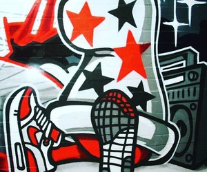 graffiti, nike, and kicks image