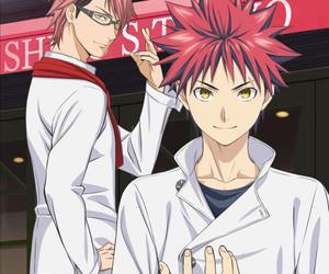 anime, shokugeki no soma, and gif image