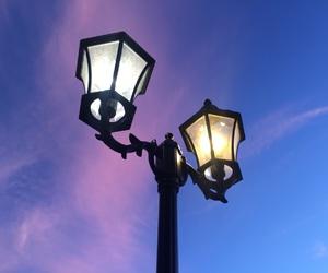 beautiful, lamp post, and sky image