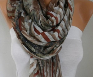 accessories, fashion, and fall scarf image