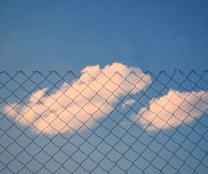 blue, clouds, and minimalism image