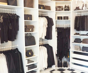 fashion, closet, and black image