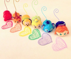 colors, cute, and tsumtsums image