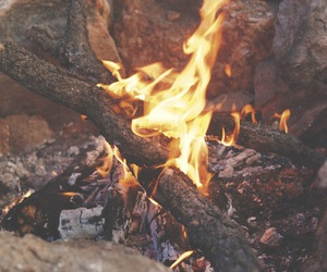 fire, autumn, and nature image