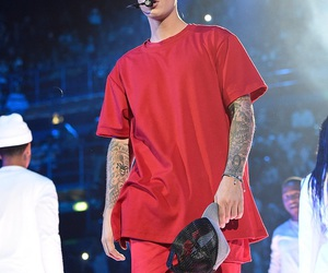 justin bieber and red image