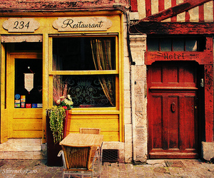 restaurant, vintage, and yellow image