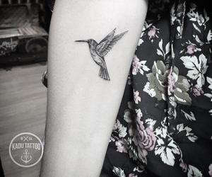 bird, tattoo, and hummingbird image