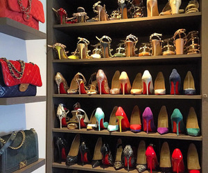 closet, heels, and luxury image