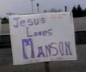 Marilyn Manson, jesus, and love image