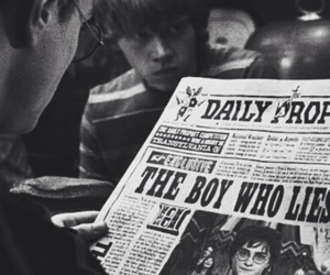book, potter, and ron image
