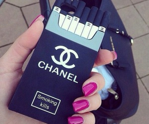 chanel, cover, and smoking image