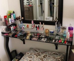 makeup, vanities, and diy vanity image