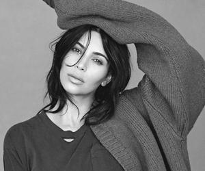 b&w, black and white, and kim kardashian image