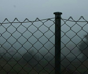 alone, dark, and fence image