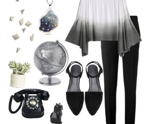 black, fashion, and flats image