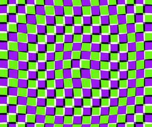 checkered, lime green, and purple image