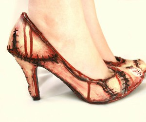 high heels, shoes, and zombie image