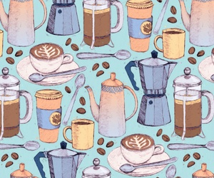 background, coffee, and pattern image