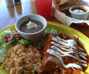 beans, chips, and mexican food image