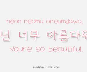 beautiful, korean, and learn image
