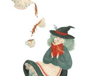 tea, witch, and art image