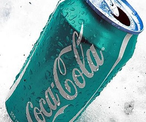 coca cola and blue image