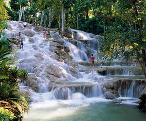 jamaica, waterfall, and landscape image