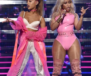 nicki minaj, ariana grande, and girl image