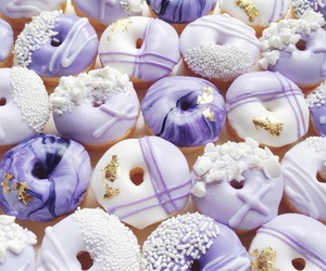 donuts, purple, and sweet image