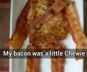 bacon, chewie, and star wars image