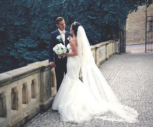 dress, man, and wedding image