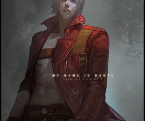 devil may cry, Dante, and anime image